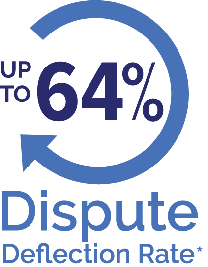 dispute deflection rate up to 64 percent